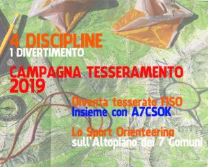 Campagna tesseramento A7CSOK 2019
